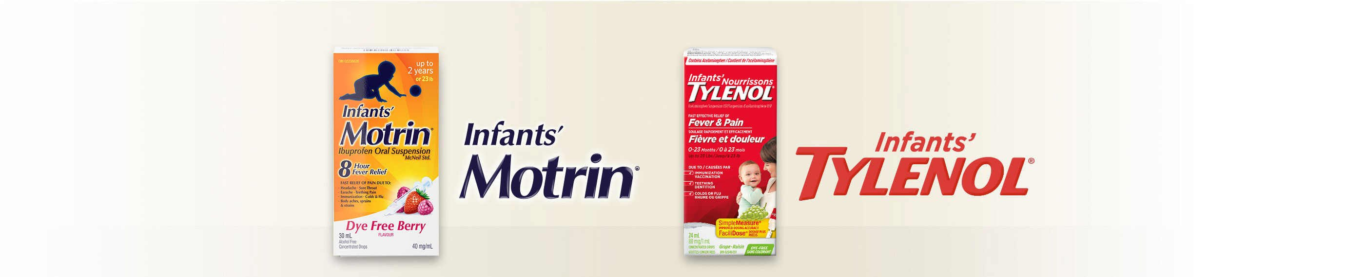 Infants' TYLENOL® or Infants' MOTRIN® products