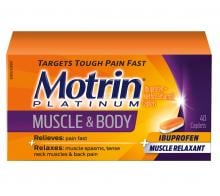 large Motrin Platinum for Muscle & Body packaging