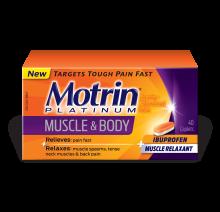 MOTRIN® Platinum Muscle & Body Caplets