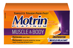 small Motrin Platinum for Muscle & Body packaging